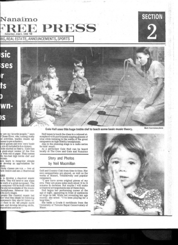 image of Beban Park Community Centre, Nanaimo, B.C. : Children and Music program